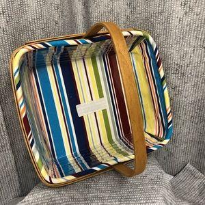 Longaberger Napkin Basket with liner and protector